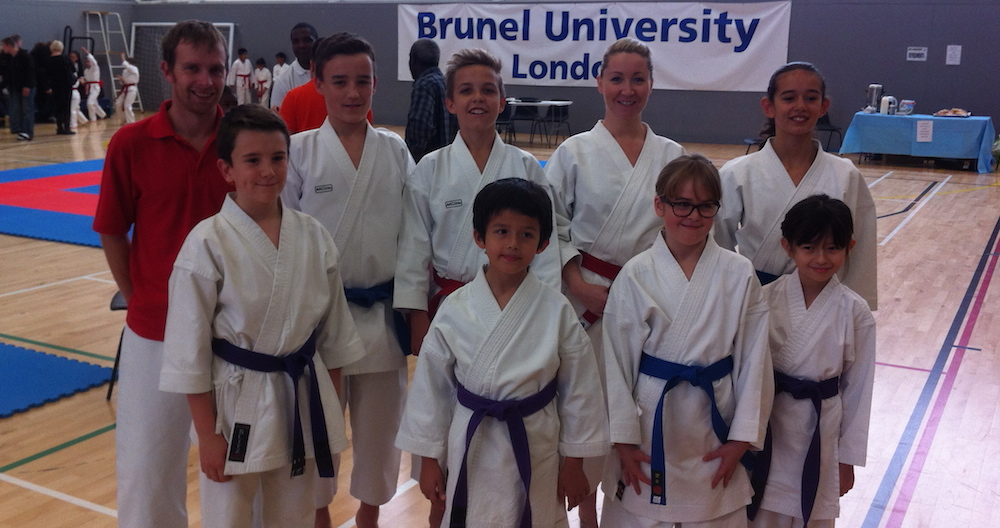 Carmarthenshire Karate team at the 2013 HKK Championships