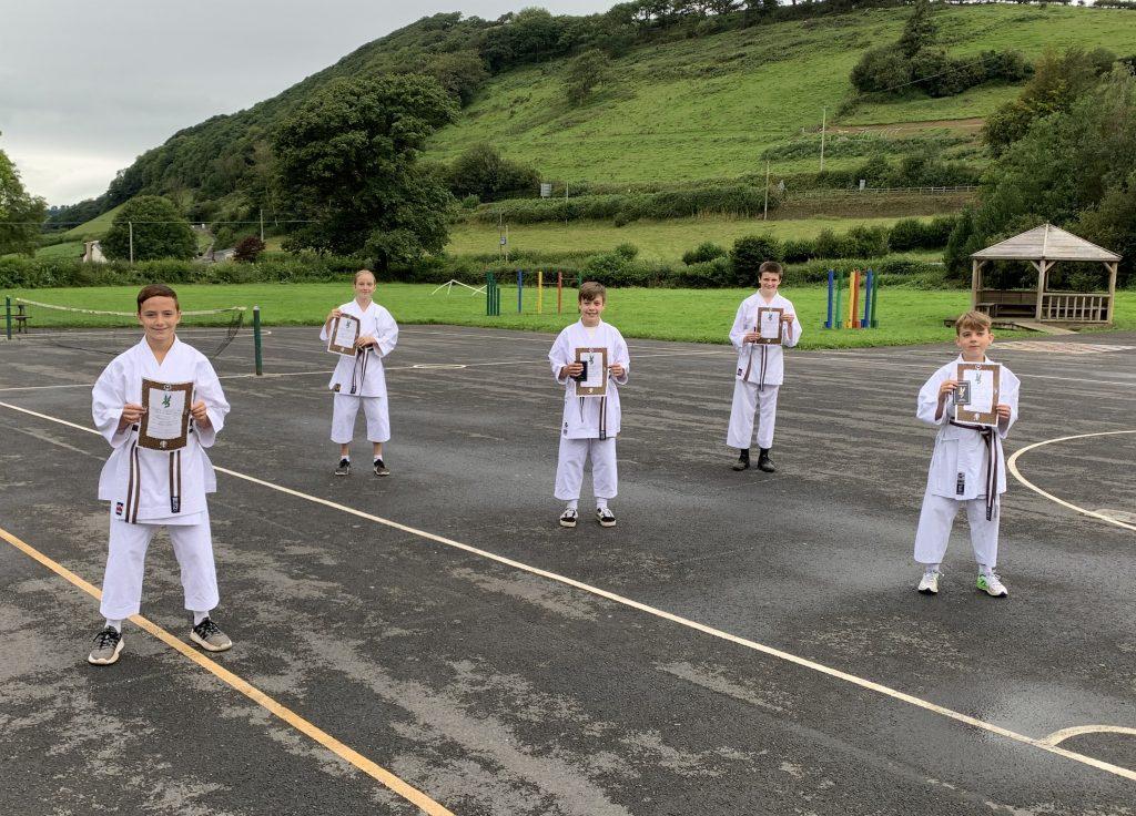 Carmarthenshire Karate Senior Grading August 2020 1st kyus