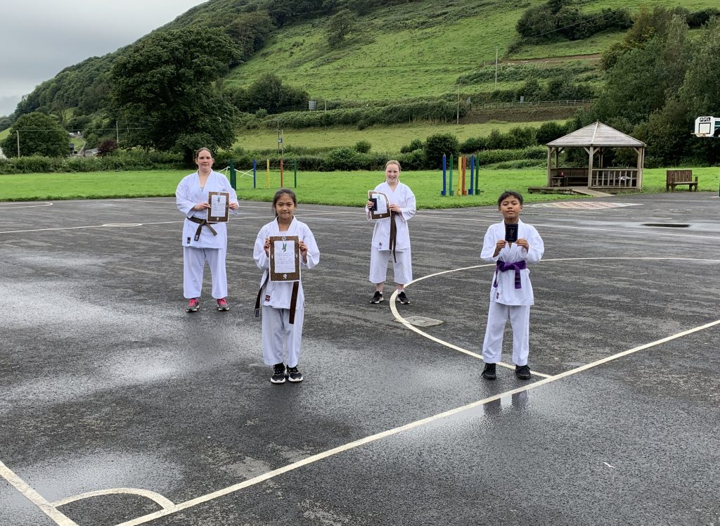 Carmarthenshire Karate Senior Grading August 2020 group 1